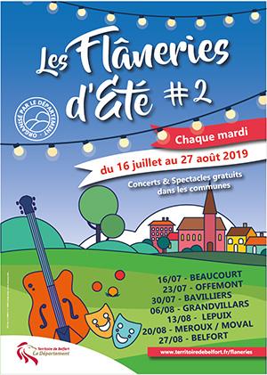 Les Flanneries d'été 2019 dans le Territoire de Belfort