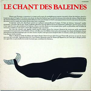 Le Chant des Baleines, Capitol Records, 1978. Sound Collection Guy Schraenen / Centre de recherche pour les publications d'artistes / Musée d'art moderne Weserburg, Brême © DR, photo : Bettina Brach