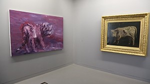 Yan Pei-Ming face à Courbet, vue de l'exposition -