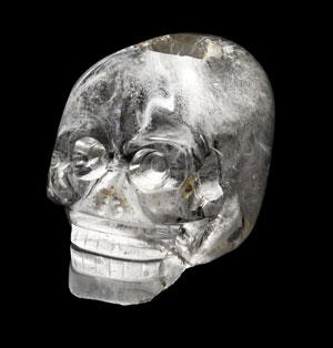Crâne de cristal de roche, dit Crâne de Paris, Mexico, XIXe siècle, Musée du Quai Branly-Jacques-Chirac