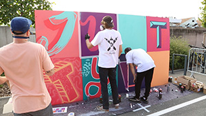 La fresque Street Art 2018 à Saint-Louis