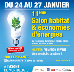 Salon Habitat et Economies d'Energies 2020 à l'Axone