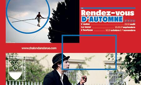 Les Rendez-vous d'Automne 2020 à Chalon-sur-Saône