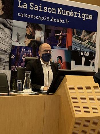 Ludovic Fagaut, Vice-président chargé des actions culturelles,  de la lecture, des archives et patrimoines, du sport  et de l'éducation populaire au Département du Doubs
