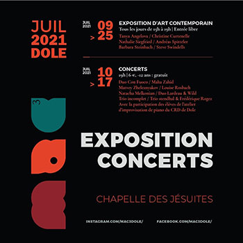 Exposition MAC3 2021 à la chapelle des Jésuites de Dole