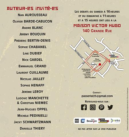 24e Festival des littératures policières noires et sociales à Besançon les 16 et 17 octobre 2021